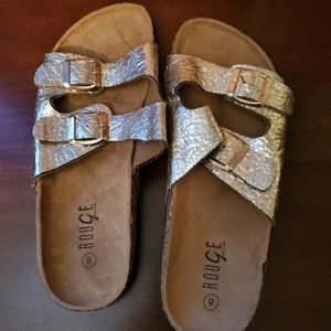 Size 8 Gold rouge sandals